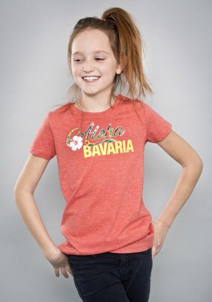 Bayerisches Shirt Mädchen Kinder Red Tropical von Aloha BAVARIA